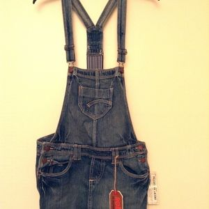 Jean Overalls Skirt-all Suspenders 100% cotton